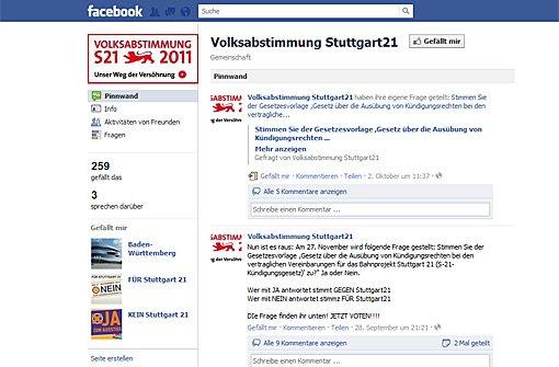 Stuttgart 21: Der Endspurt auf Facebook