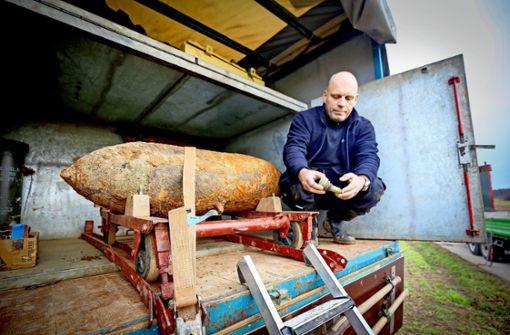 Bombe lag nur einen Meter unter der Erde