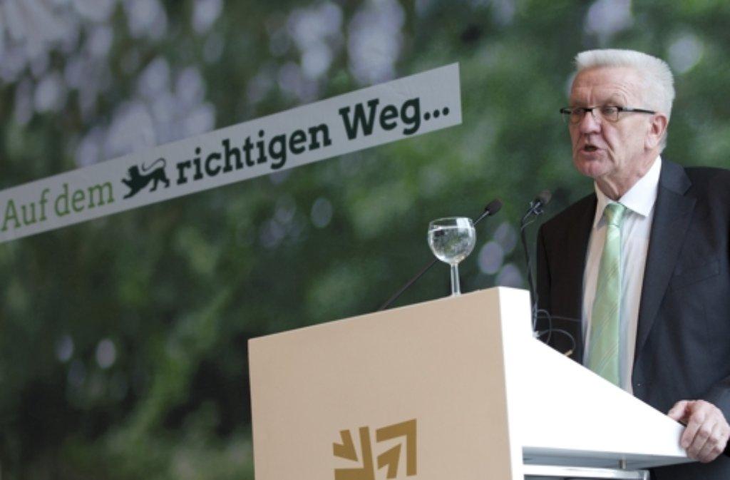 Bei seiner Grundsatzrede thematisiert Ministerpräsident Winfried Kretschmann (Grüne) auch die zunehmende Gefahr von Rechts. Foto: dpa