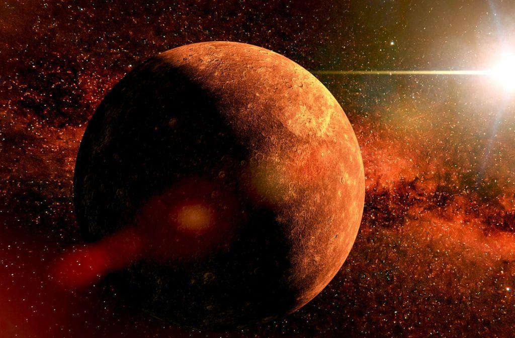 Merkur, eine Kugel aus totem Gestein, umkreist die Sonne als innerster der acht Planeten. Foto: Dottedyeti/Adobe Stock