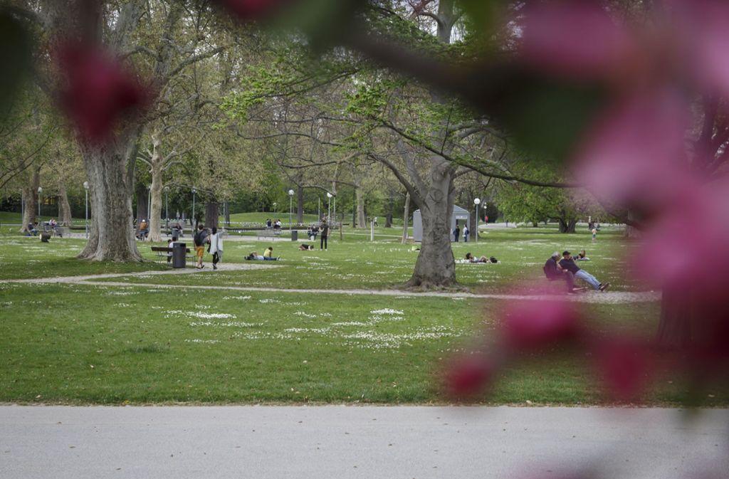 Auch der Mittlere Schlossgarten dürfte bei sommerlichen Temperaturen wieder bevölkert sein. (Archivbild) Foto: Lichtgut/Julian Rettig