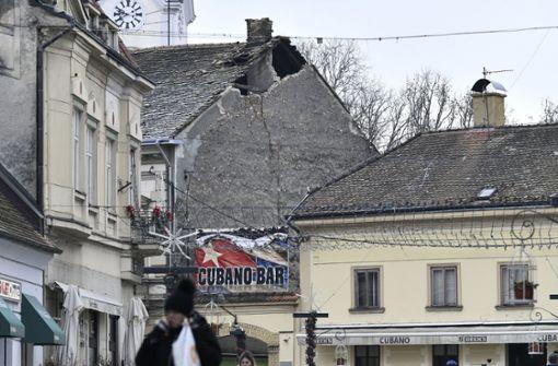 Weitere Erdstöße erschüttern Gebiete um  Zagreb