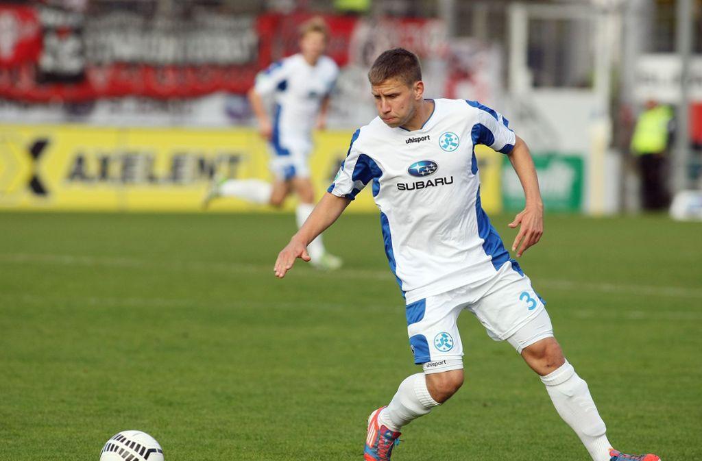 Wird ab kommender Saison wieder das Trikot der Stuttgarter Kickers tragen: Patrick Auracher. Foto: Pressefoto Baumann