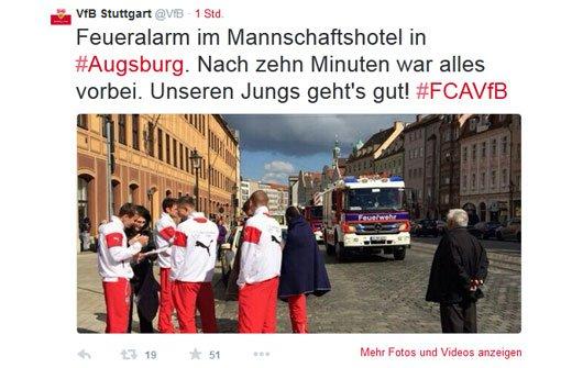 Feueralarm im Teamhotel in Augsburg