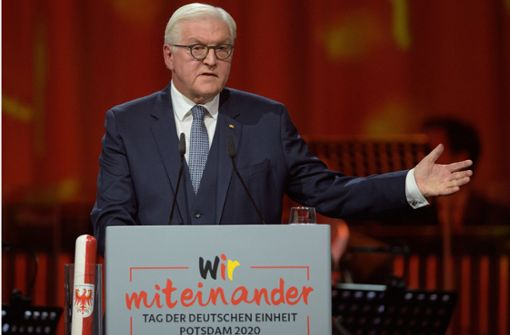 Bundespräsident Steinmeier beschwört den Zusammenhalt