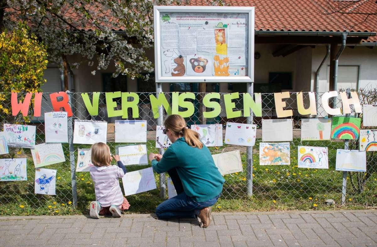 Monatelang keine Kita und keine Schule: Die Coronazeit verlangte Eltern einiges ab. Foto: dpa