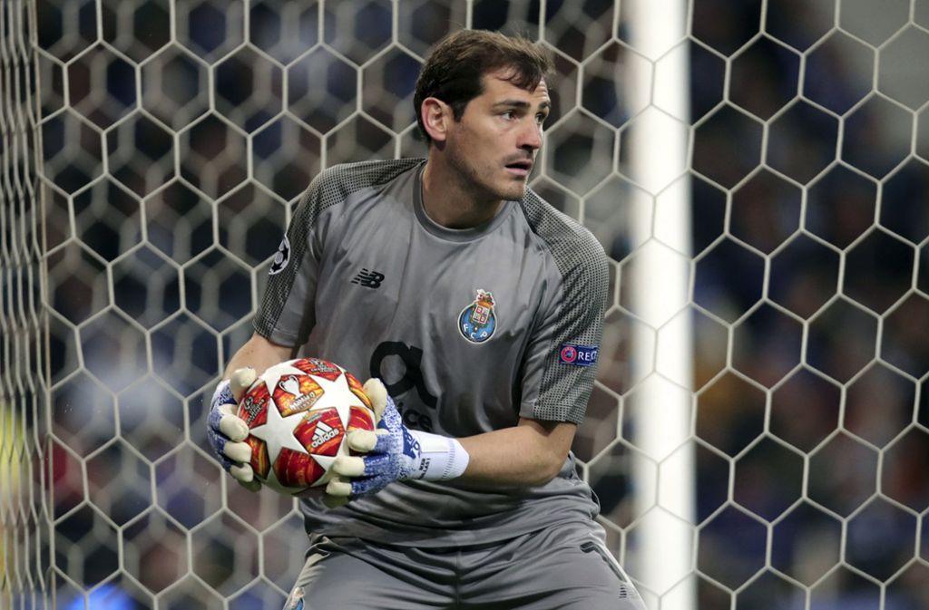 Iker Casillas hatte bei seinem Herzinfarkt Glück im Unglück. (Archivbild) Foto: AP