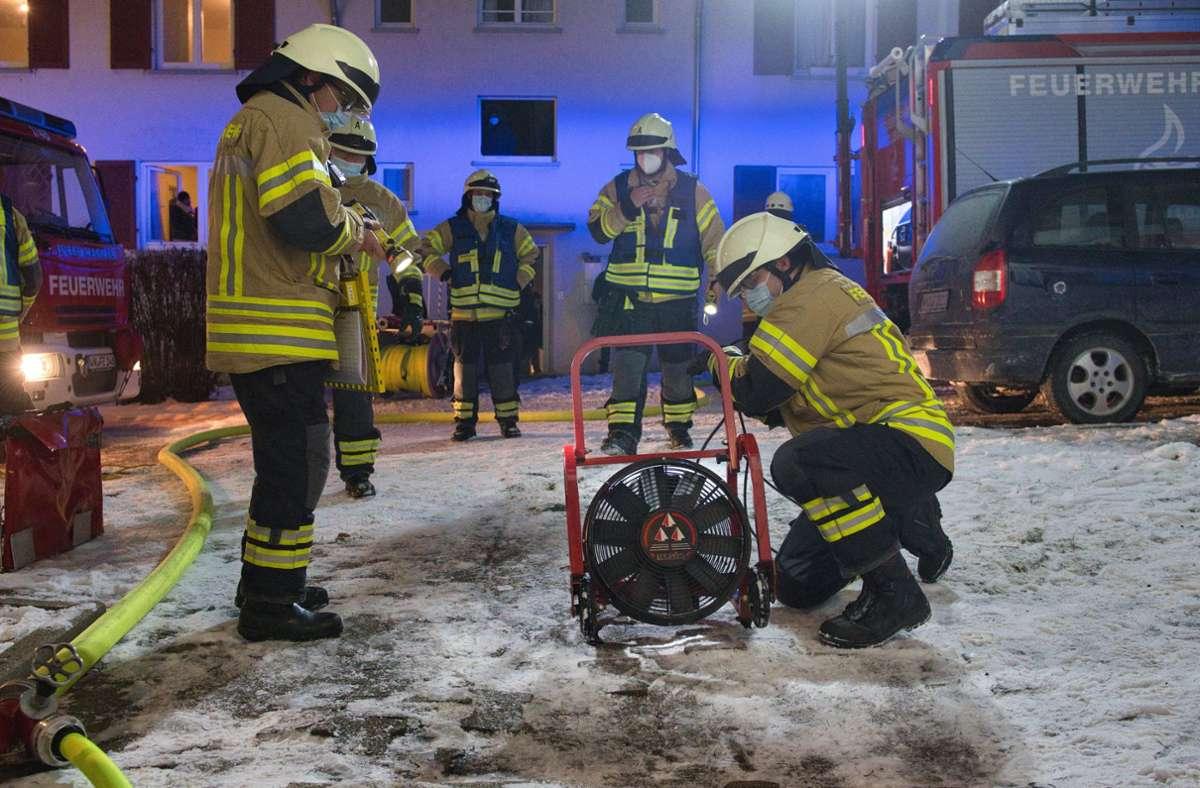 Die Einsatzzahlen sind im Corona-Jahr 2020 bei der Fellbacher Feuerwehr gesunken. Foto: /Feuerwehr/Alexander Ernst