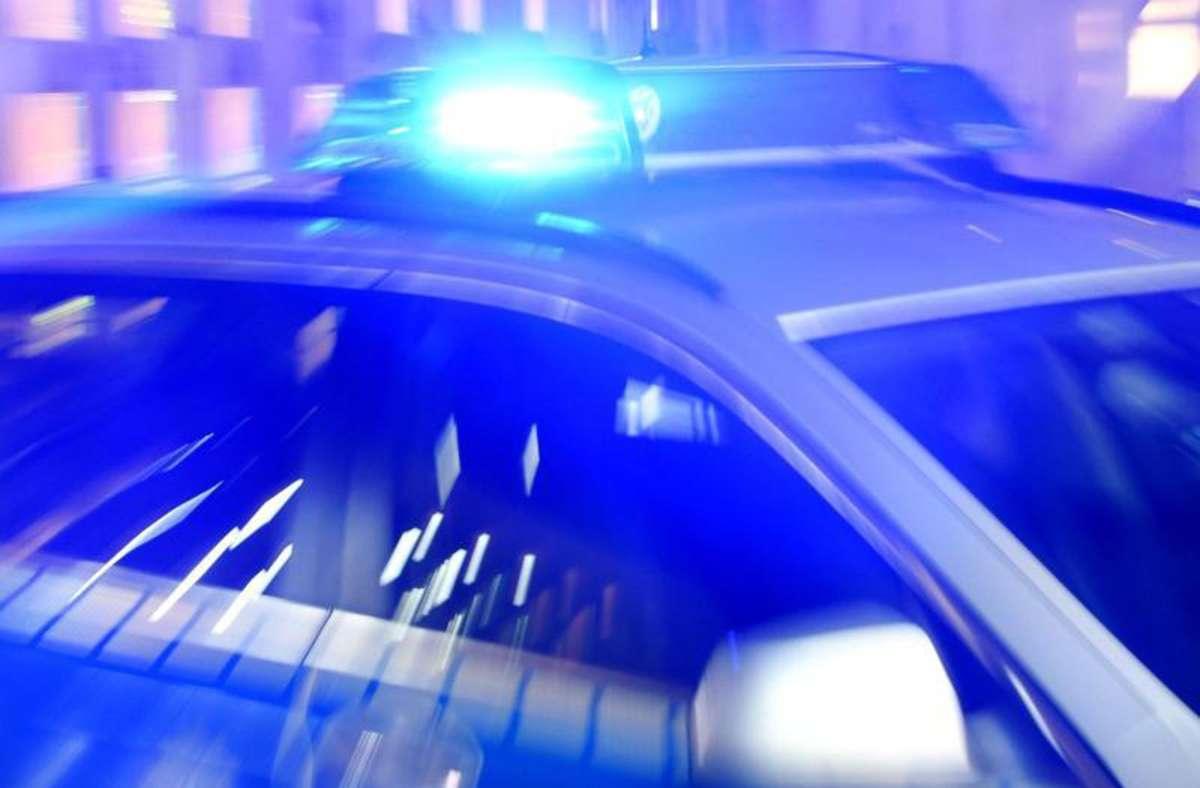 Die Polizei war am Samstag wegen einer handgreiflichen Auseinandersetzung in Sersheim (Kreis Ludwigsburg) im Einsatz. Foto: Carsten Rehder/dpa/Archiv