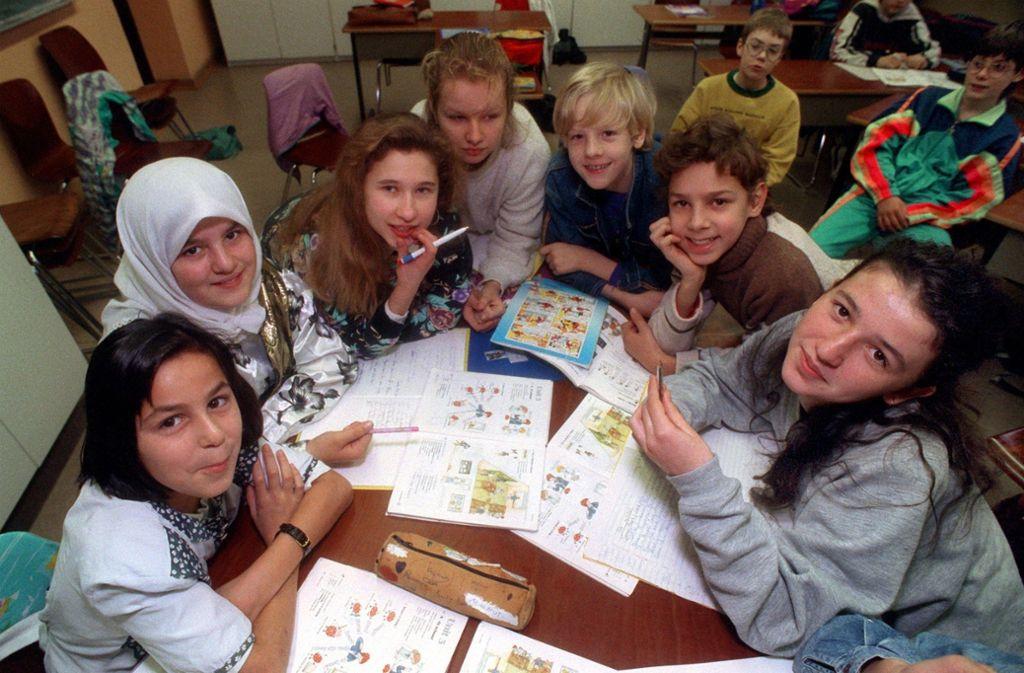 Ausländische Kinder sollen Deutsch lernen. Das ist das oberste Ziel der Kultusministerin. Foto: Dieter Roosen