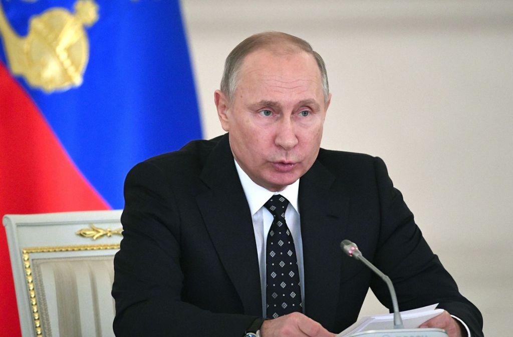 Wladimir Putin erklärt, noch einmal Präsident werden zu wollen. Foto: AFP