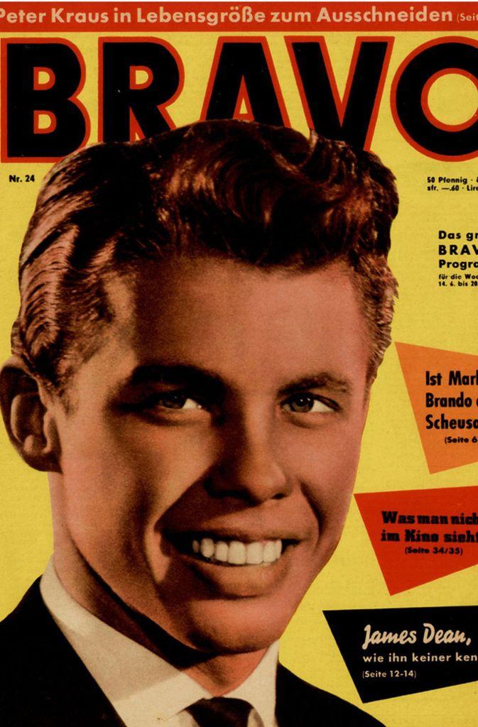 """""""Bravo""""-Cover von 1959 mit Schlagersänger Peter Kraus ... Foto: Bauer Media Group/Bravo/dpa"""