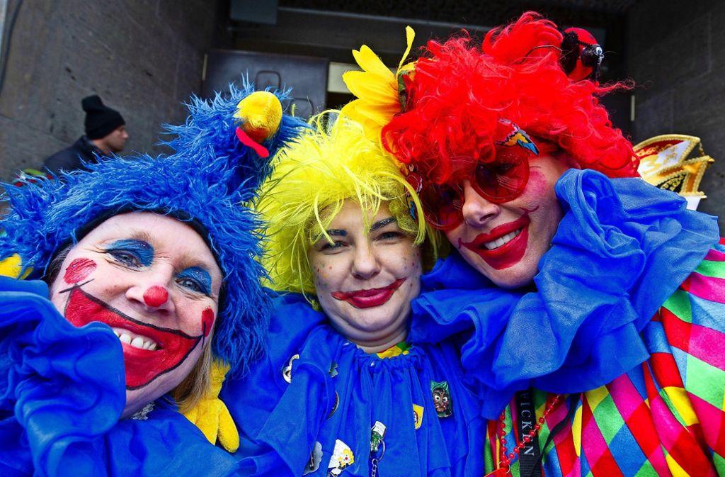 Drei Clowns mit guter Laune Foto: Lichtgut/Leif Piechowski
