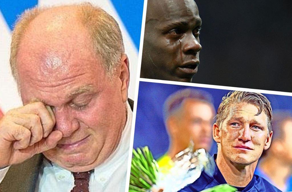 Wenn Männer weinen... Foto: dpa