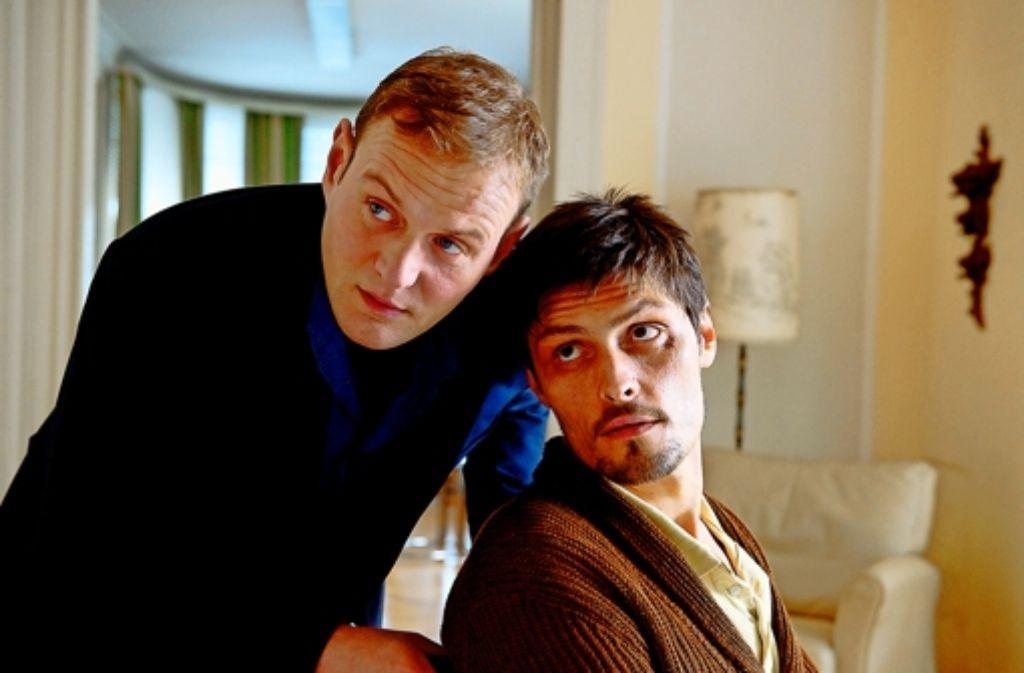 Unverhofftes Wiedersehen:  Devid Striesow (links) und Stipe Erceg Foto: MDR