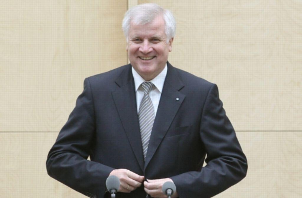 Horst Seehofer übernimmt die Ersatzrolle des Bundespräsidenten. Foto: dpa