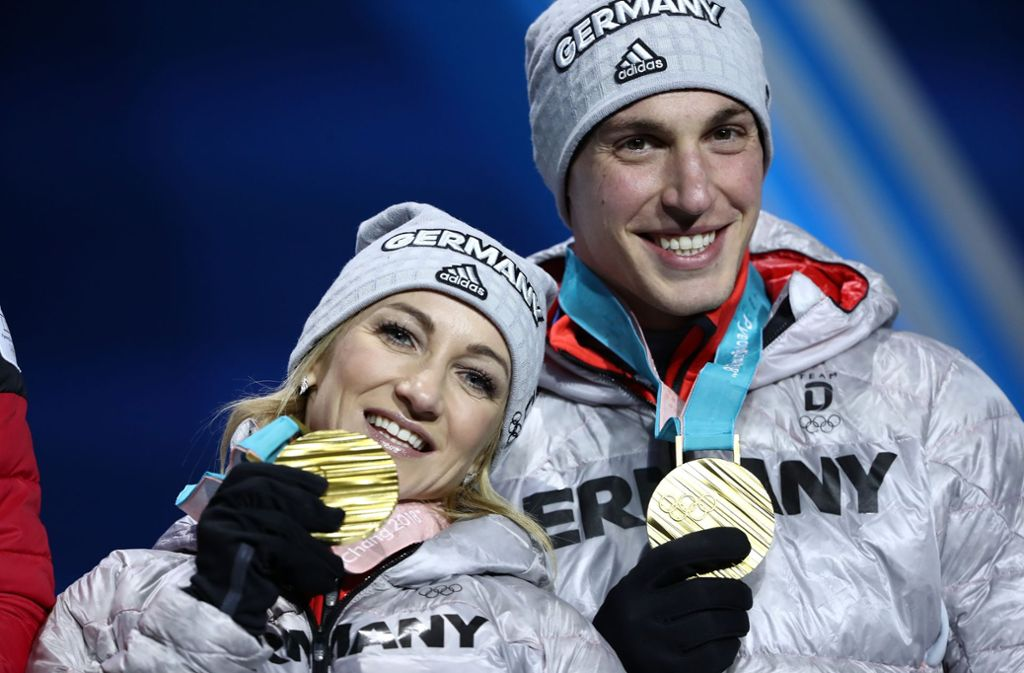 Die ARD-Zuschauer konnten die goldene Eiskunstlauf-Kür von Aljona Savchenko und Bruno Massot nur als Aufzeichnung sehen. Foto: Getty Images AsiaPac