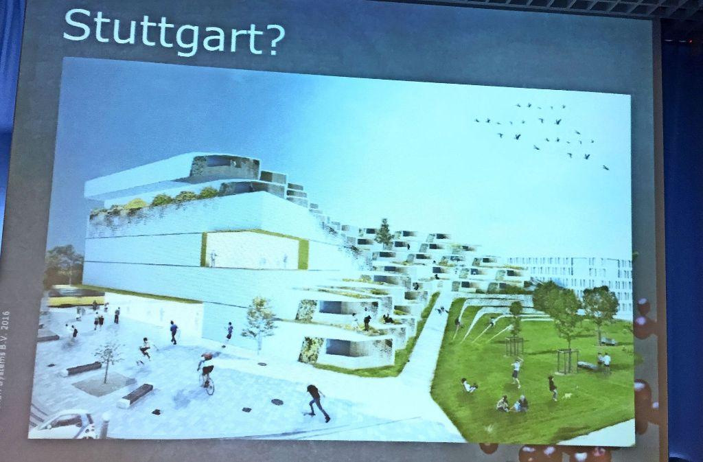 Ein Studie von Ikea zum möglichen Standort Stuttgart Foto: Haar