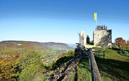 Die Burg auf dem Schlossberg und  lohnende Abstecher