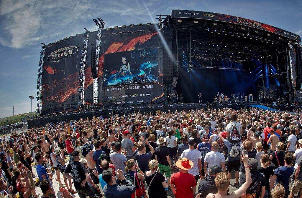 """Am kommenden Wochenende findet in Rheinland-Pfalz das Festival """"Rock am Ring"""" statt. Foto: dpa"""