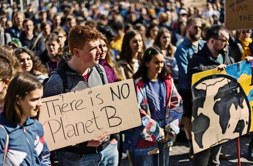 Jugendliche haben für Klimaschutz demonstriert. Foto: Lg/Kovalenko
