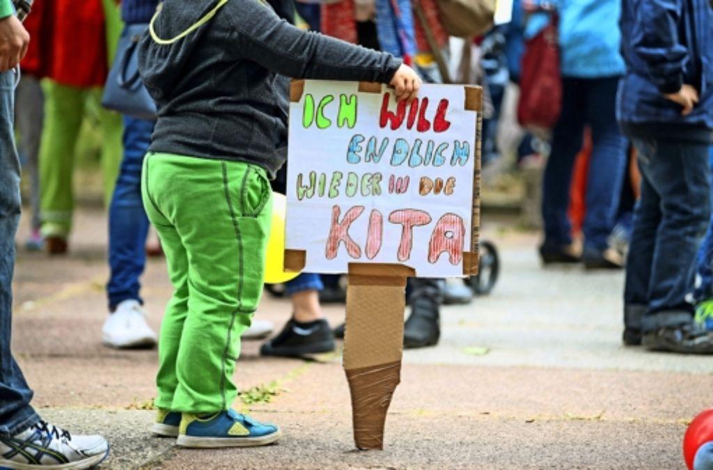 Es könnte neue Kita-Streiks geben. Arbeitgeber und Gewerkschaften konnten sich nicht einigen. Foto: dpa-Zentralbild