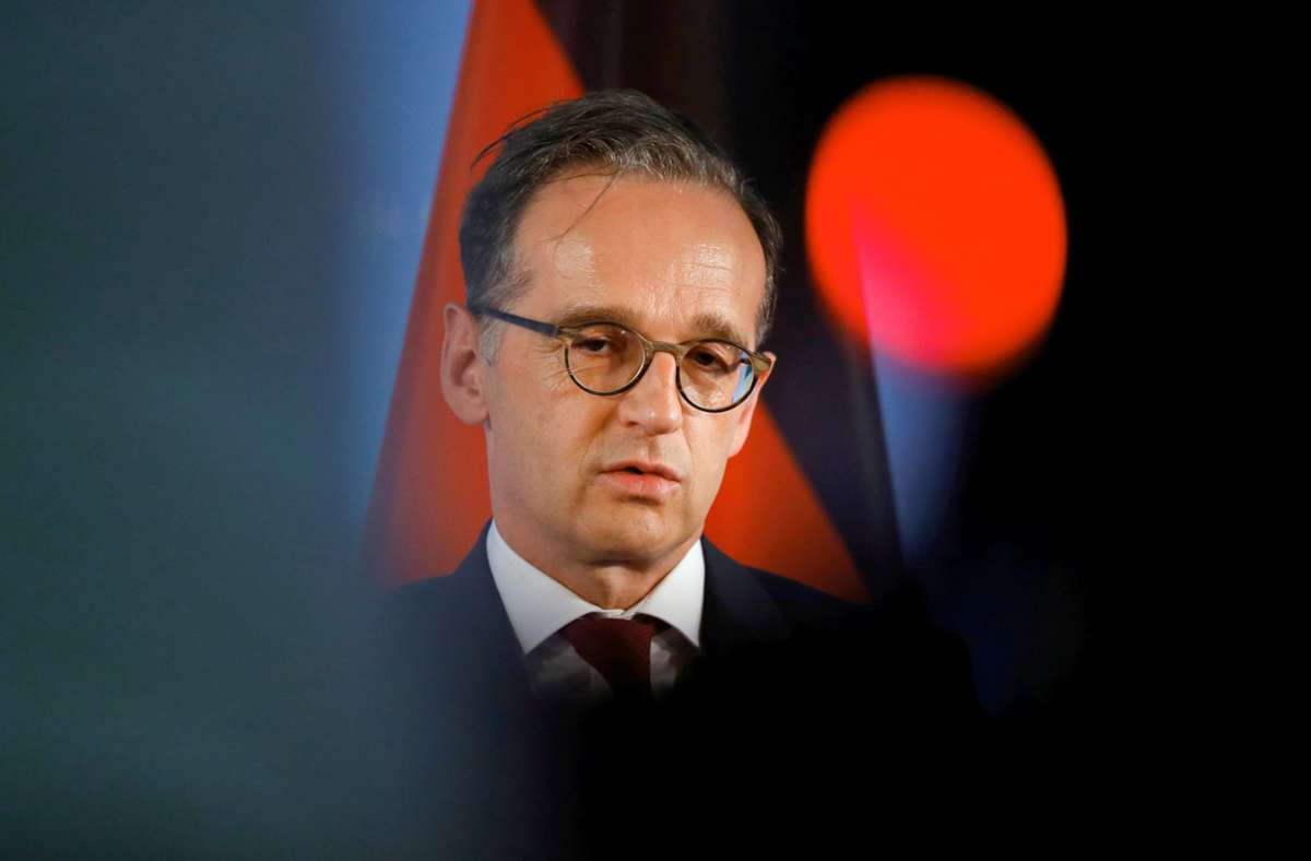 Heiko Maas bei seinem Besuch in Polen Foto: dpa/Fabrizio Bensch