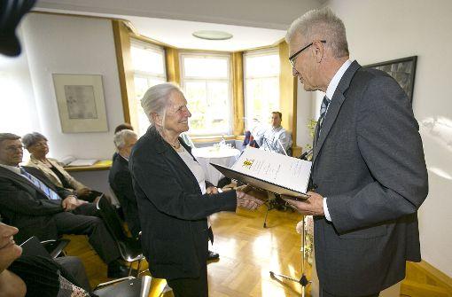 Hildegard Ruoff erhält den Pfisterer-Preis