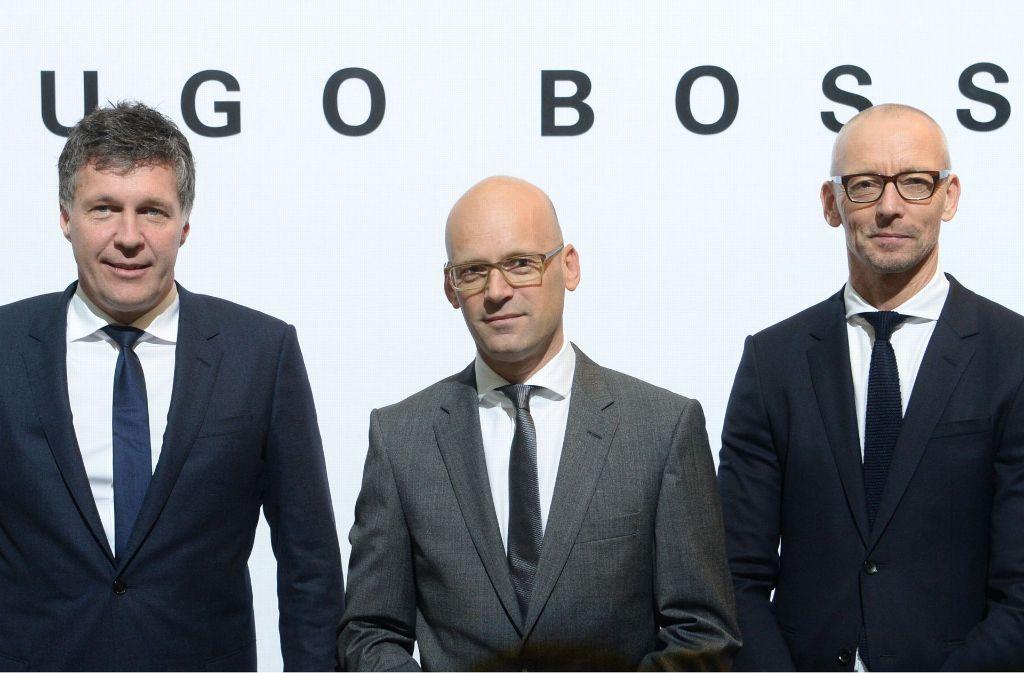 Der Boss-Vorstand (von links): Bernd Hake, Mark Langer und Ingo Wilts Foto: dpa