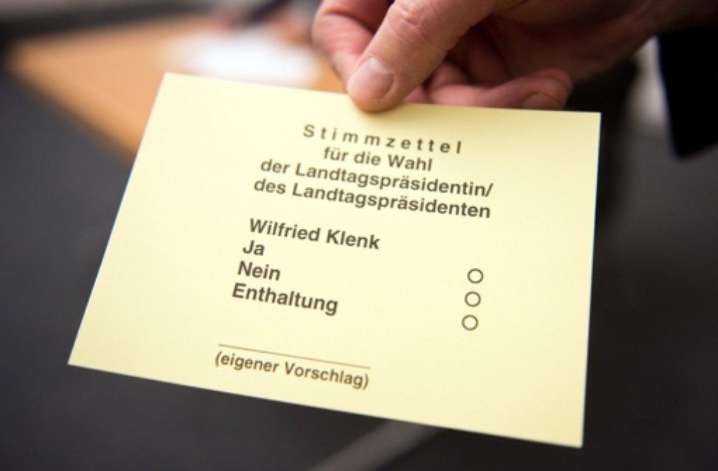 Es hätte durchaus die Gelegenheit gegeben, gegen Wilfried Klenk zu stimmen. Foto: dpa
