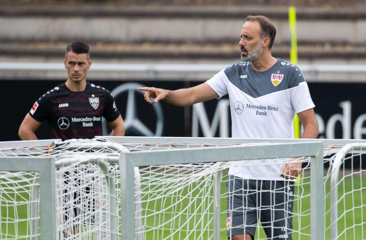 Pellegrino Matarazzo (rechts) und der VfB Stuttgart spielen wieder in der Bundesliga. Foto: dpa/Tom Weller