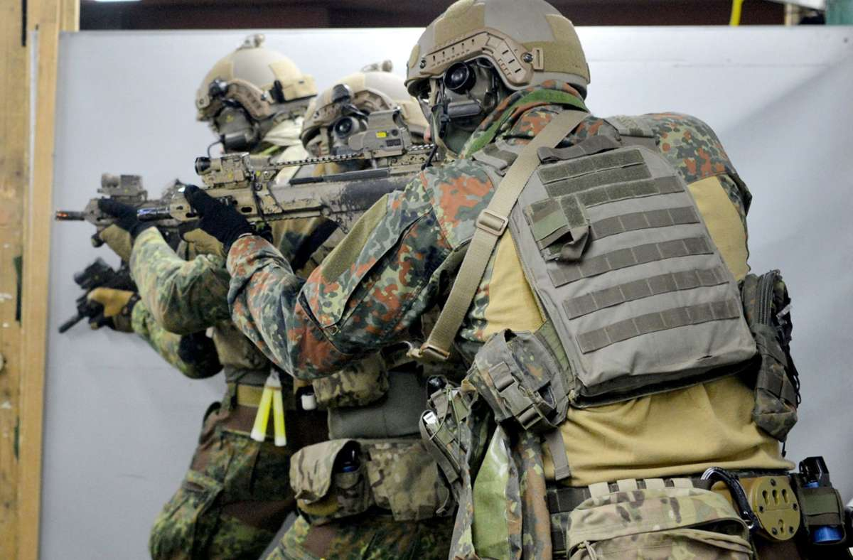 Soldaten der Bundeswehr-Elitetruppe KSK in Calw. Foto: dpa/Franziska Kraufmann