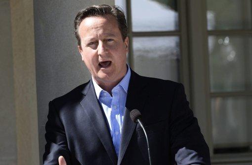 Cameron im Dialog mit Merkel