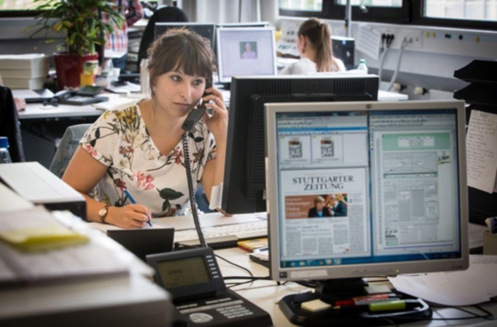 Das Trainee-Programm der Stuttgarter Zeitung richtet sich an Studenten, die sich für den Beruf des Journalisten interessieren. Foto: Lichtgut/Achim Zweygarth