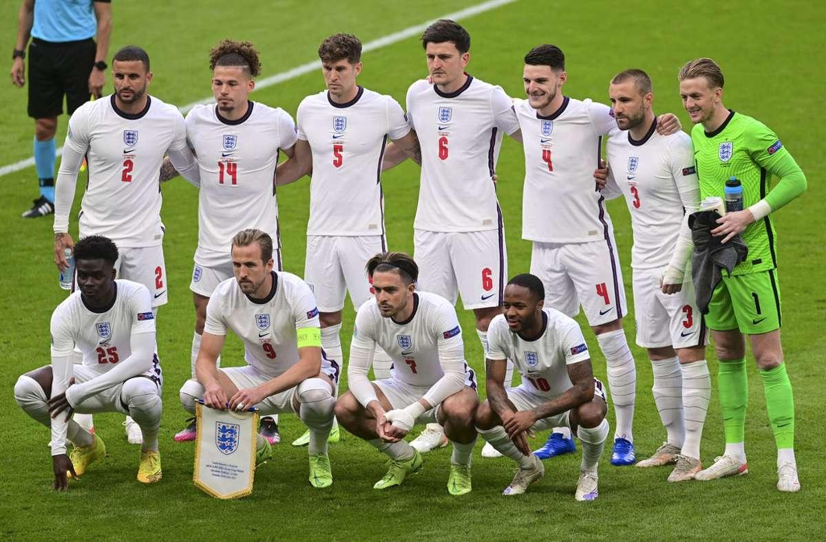 Deutschland trifft am Dienstag im EM-Achtelfinale auf England. Foto: dpa/Neil Hall