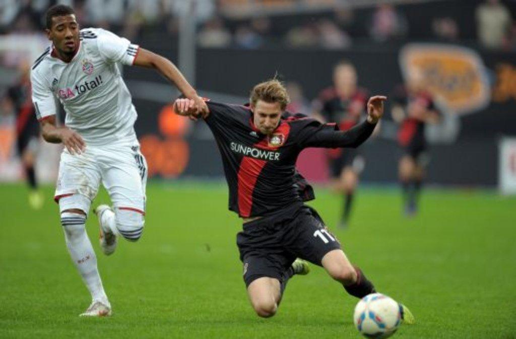 Vier Bundesliga-Spieler liegen mit je 6 Treffern in der Rückrunde auf dem 8. Platz: Stefan Kießling (rechts) von Bayer Leverkusen, ... Foto: dpa