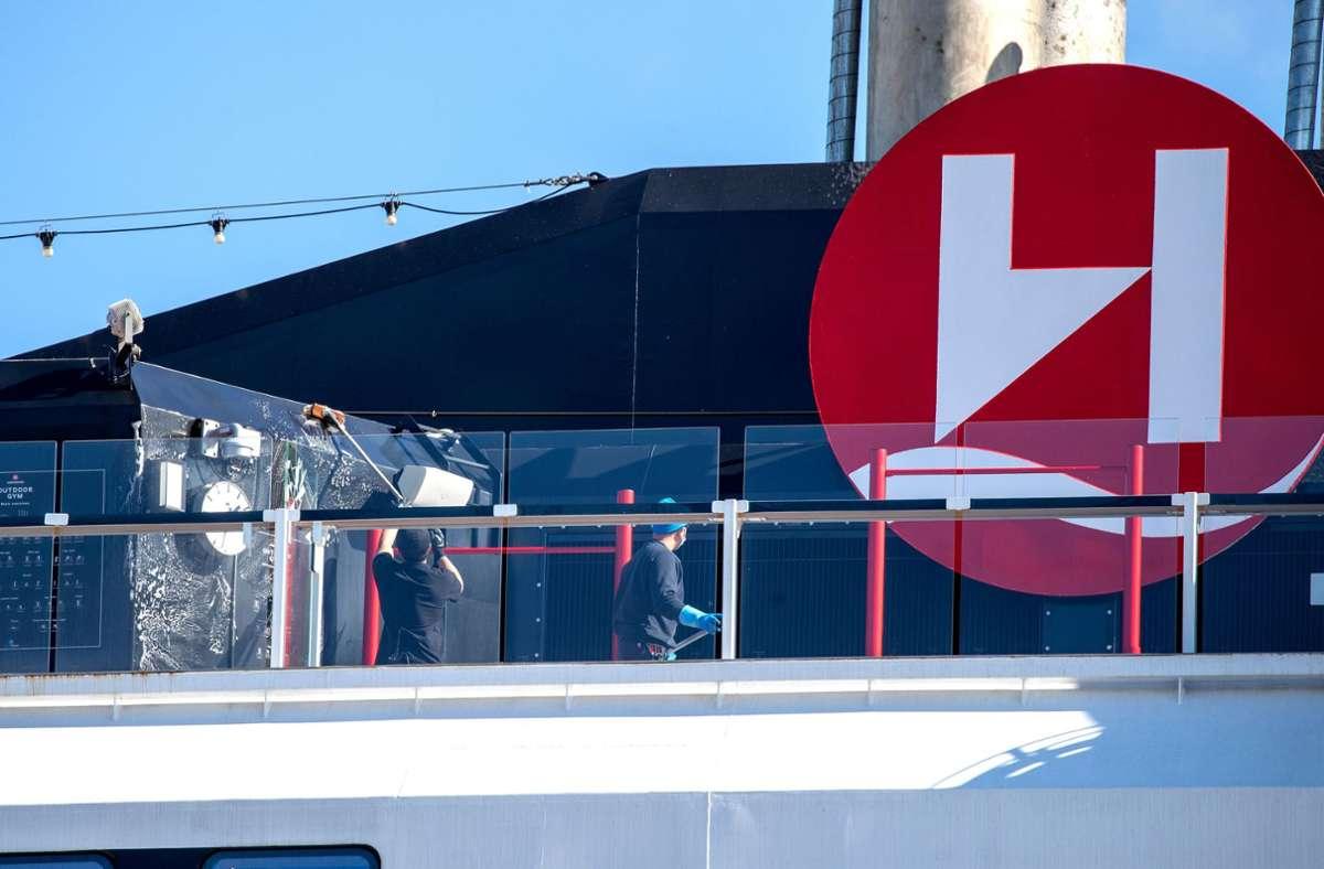 """Auf dem Kreuzfahrtschiff """"Roald Amundsen"""" gab es einen Coronavirus-Ausbruch (Symbolbild). Foto: AFP/TERJE PEDERSEN"""