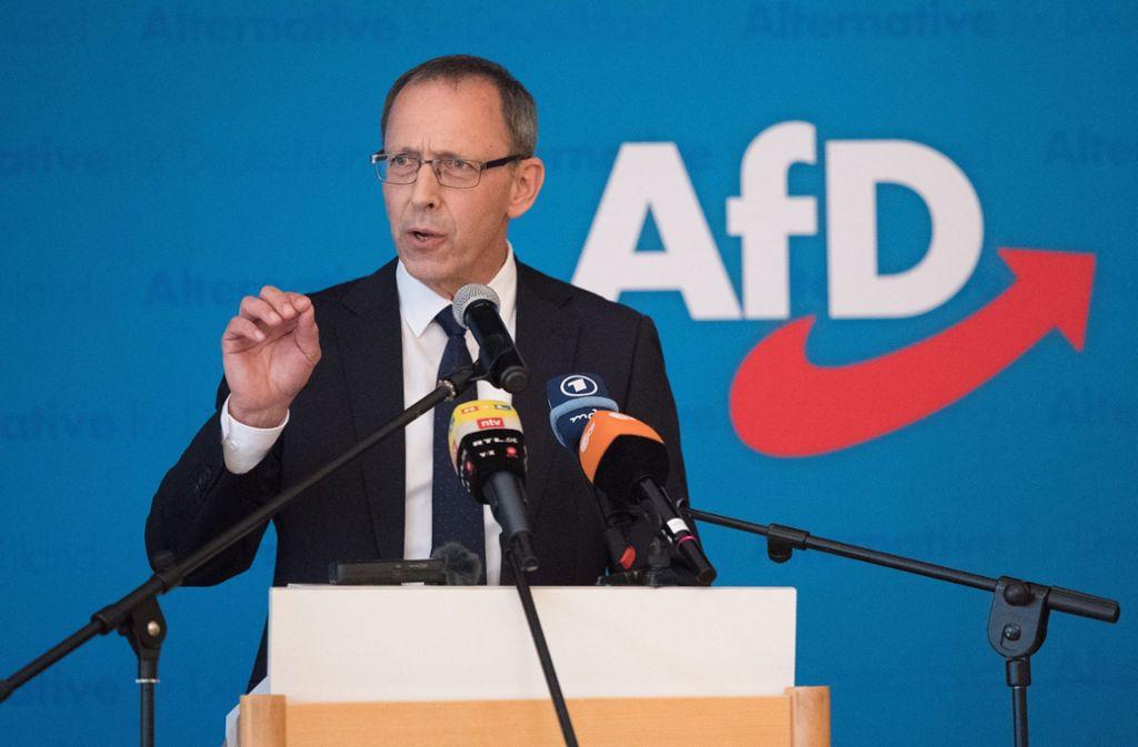 Das Foto zeigt Jörg Urban, den Vorsitzenden der AfD in Sachsen. Foto: dpa