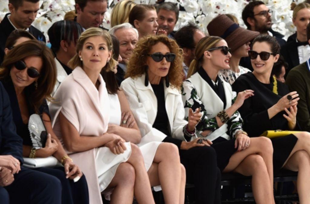 Bei der Dior-Schau von Raf Simons war einiges los. Foto: Getty Images Europe