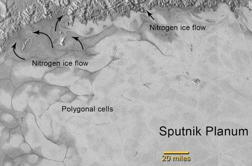 Auf dem Pluto fließen die Gletscher