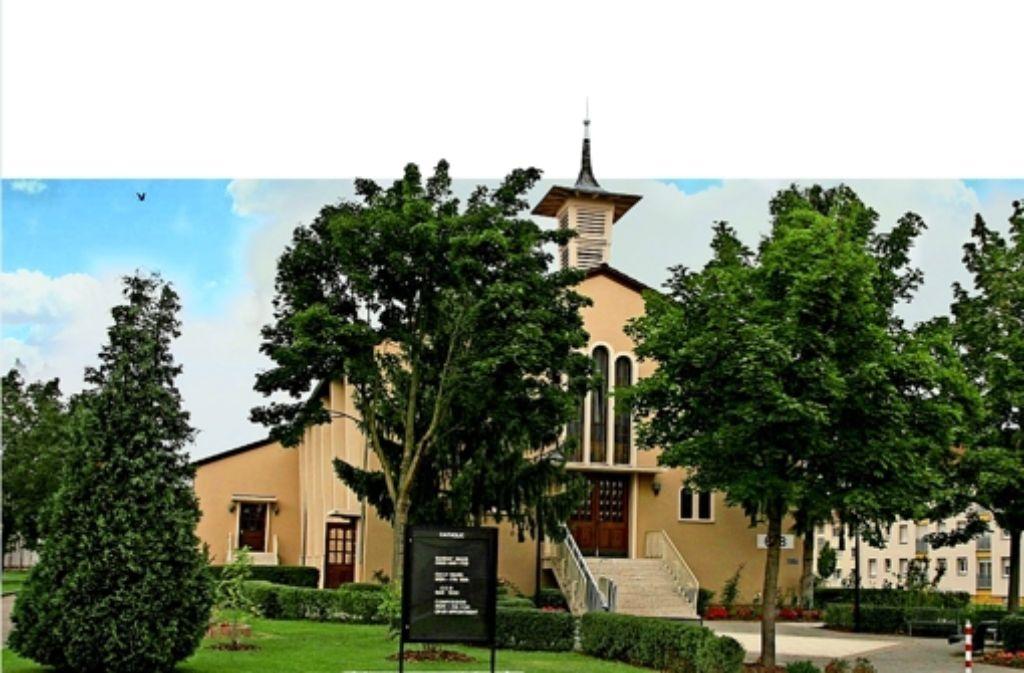 """Die """"Franklin Chapel""""  steht im Zentrum der  früheren US-Siedlung Benjamin Franklin Village in Mannheim. Nach der Konversion soll an dieser Stelle eine Art Marktplatz entstehen. Foto: Herald Post"""