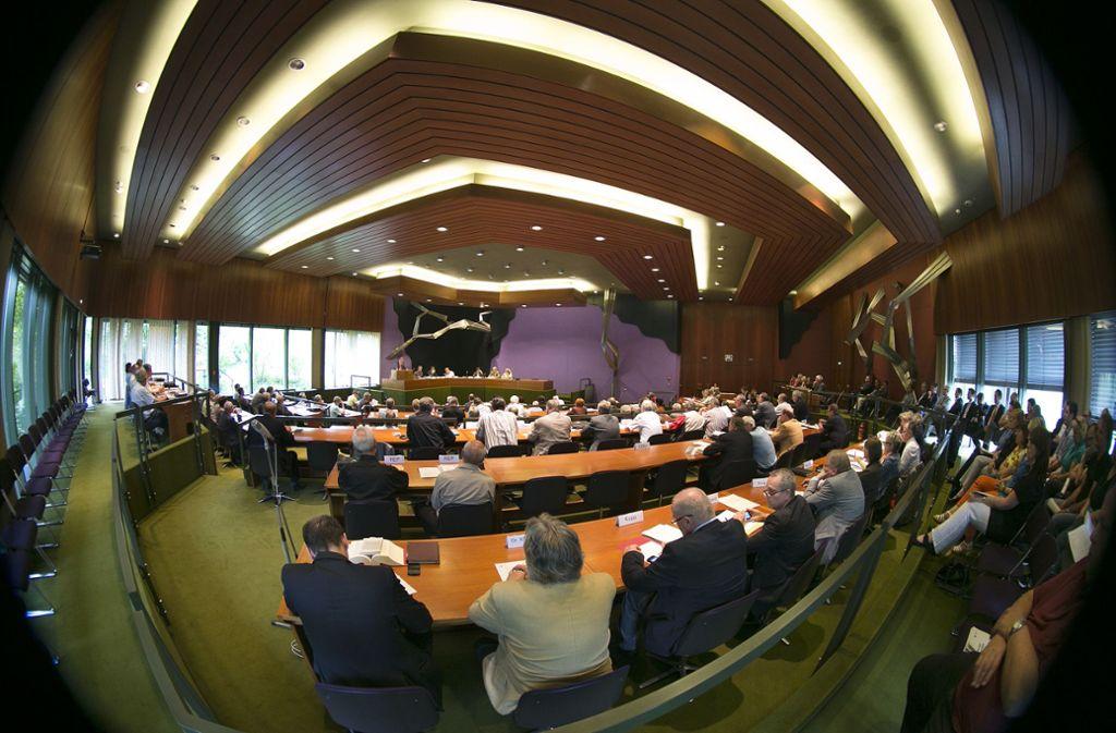 Im Rahmen der Generaldebatte zum Esslinger Kreishaushalt haben Sprecher der Fraktionen auch die Zahlungsmoral des Landes kritisiert. Foto: Pressefoto Horst Rudel/Horst Rudel