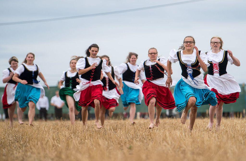Der Schäferlauf in Markgröningen hat lange Tradition. Foto: AFP