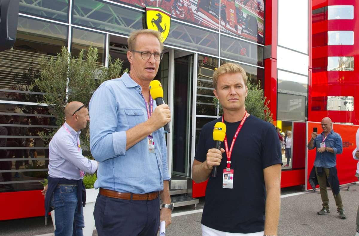 Florian König (links) ist das RTL-Gesicht der Formel 1. Foto: imago images/Mandoga Media