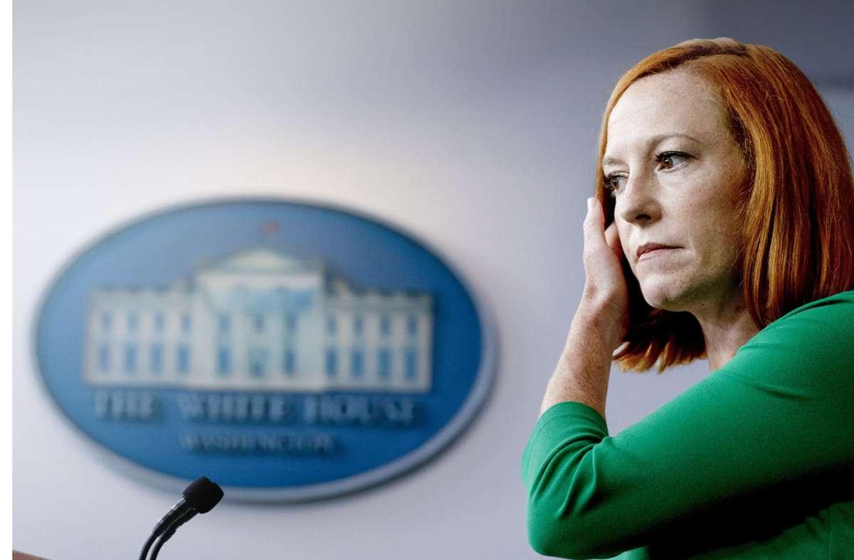 Für Regierungsangestellte wie Jen Psaki, Pressesprecherin des Weißen Hauses, gilt künftig eine Impfpflicht. Foto: dpa/Andrew Harnik