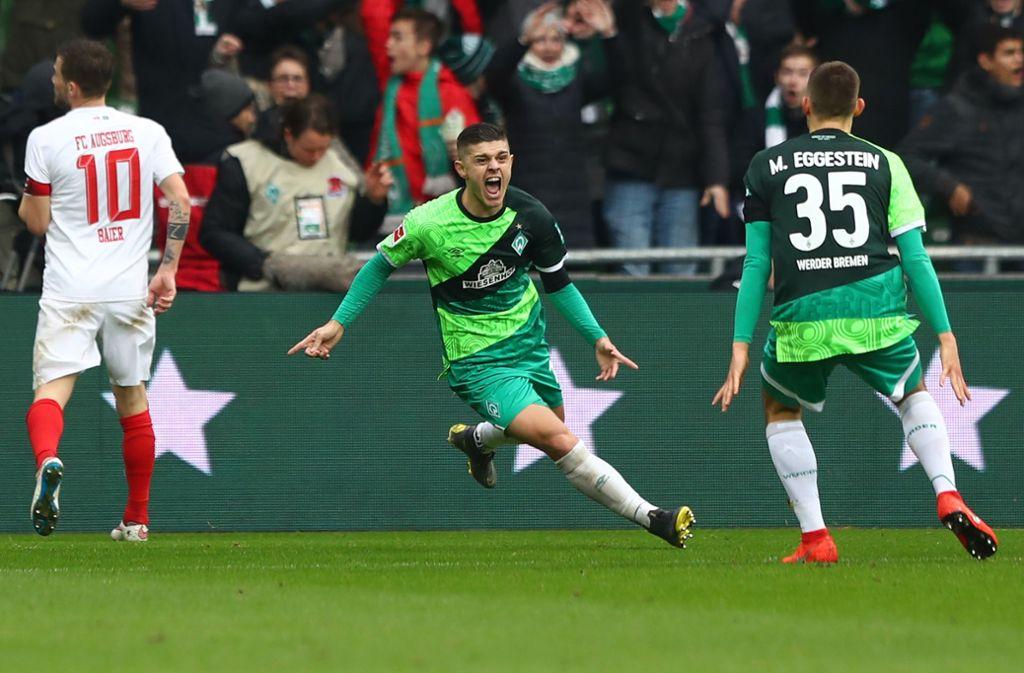 Werder-Stürmer Milot Rashica erzielte gegen den FC Augsburg zwei Treffer. Foto: Bongarts