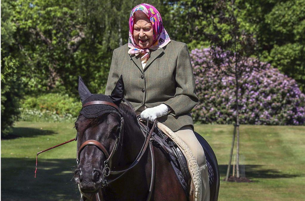 Die Queen hat ein nettes Pferd und einen gestutzten Park. Glückliche Briten. Foto: AFP/STEVE PARSONS