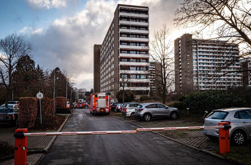 In der Seniorenresidenz Augustinum ist es zu einem Brand gekommen. Foto: 7aktuell.de/Alexander Hald