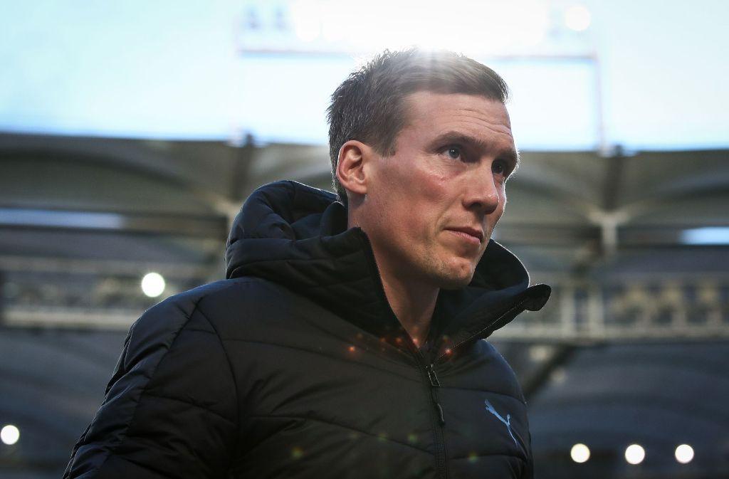 Hannes Wolf und der VfB empfingen am Freitagabend Borussia Dortmund. Foto: Bongarts