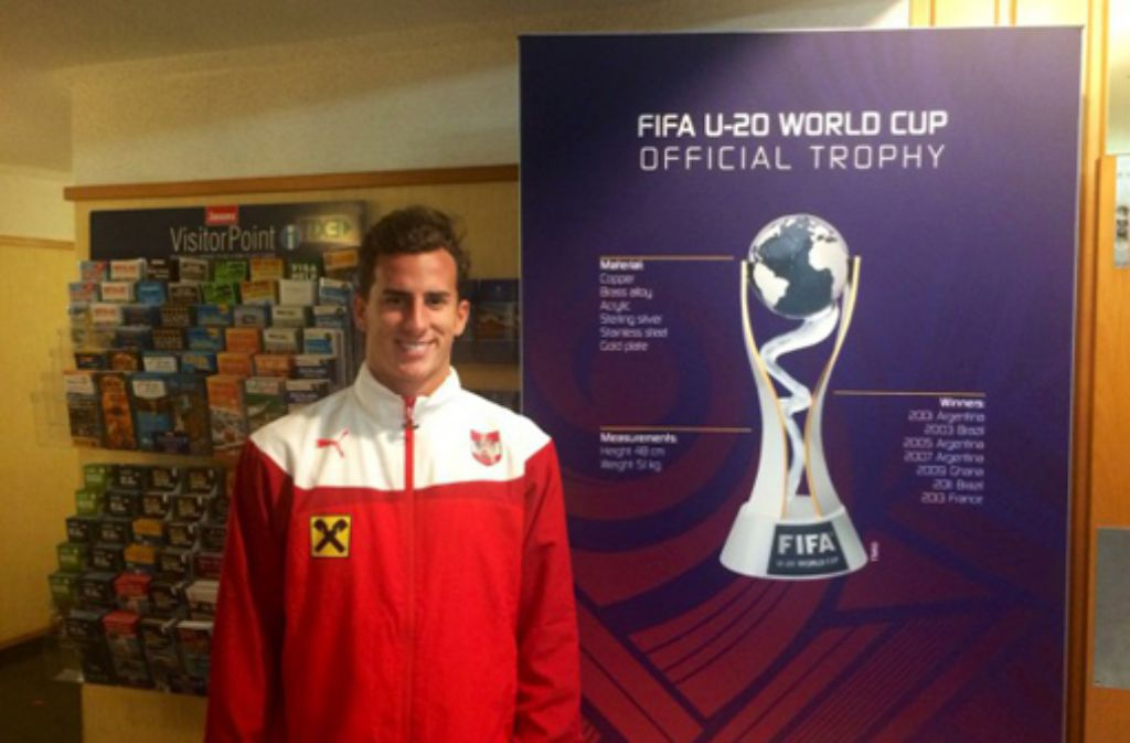 Francesco Lovric vertritt den VfB Stuttgart bei der U20-WM in Neuseeland.  Foto: Privat